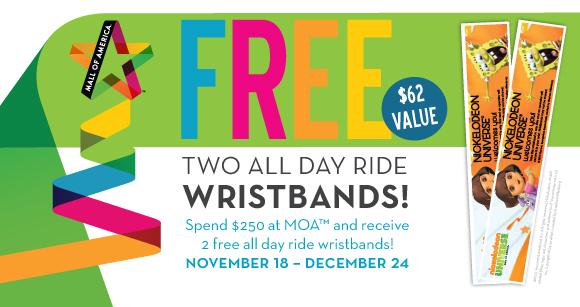 mall of america wristband deals