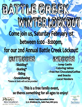 Battle Creek Winter Lockout on Saturday, Feb 1 - Free family event!