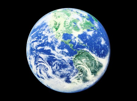 View of Earth From Space --- Image by © Royalty-Free/Corbis