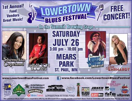 Free Lowertown Blues Festival in St. Paul - Saturday, July 26 - Thrifty Minnesota