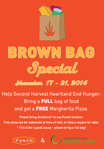 Punch Pizza Free with Food Donation to Second Harvest Heartland