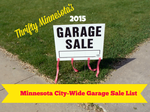 2015 Minnesota City Wide Garage Sales List