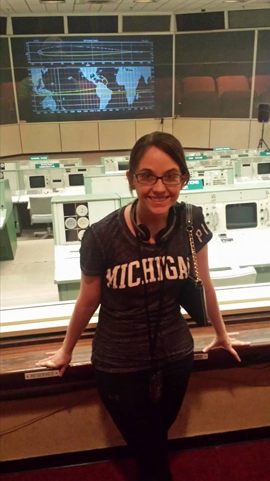 In the old Mission Control Room at NASA in Houston, TX.