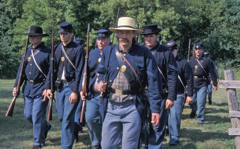 Civil War Renactors in Union uniforms at The Landing