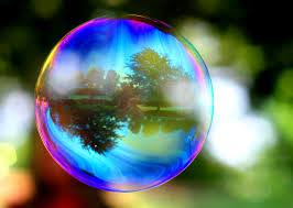 bubbles at wood