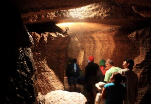 A tour group makes their way through Niagara Cave near Harmony, Minn., on Monday, June 21, 2011. The cave is open to tours daily. (AP Photo/Winona Daily News, Andrew Link)
