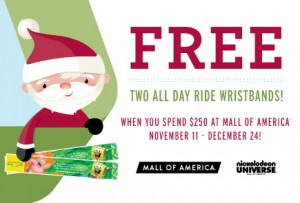 Mall America Holiday Spending Wrist Band Deal