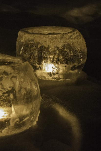 Candlelight and Ice at Wood Lake Nature Center