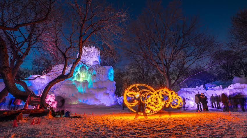 Ice Castle in Eden Prairie