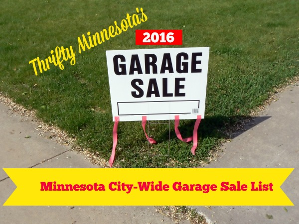 2016 Minnesota City Wide Garage Sales List