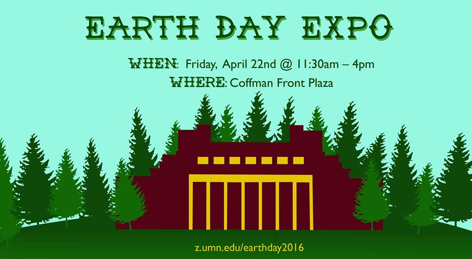 Earth Day Expo 2016, Coffman Front Plaza