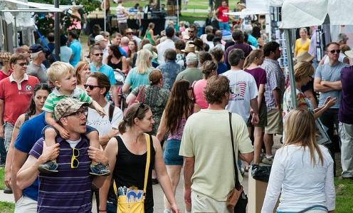 Crowd at Loring Park Art Festival