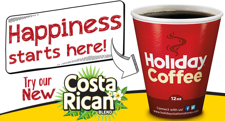 holiday free coffee coupon - good all weekend
