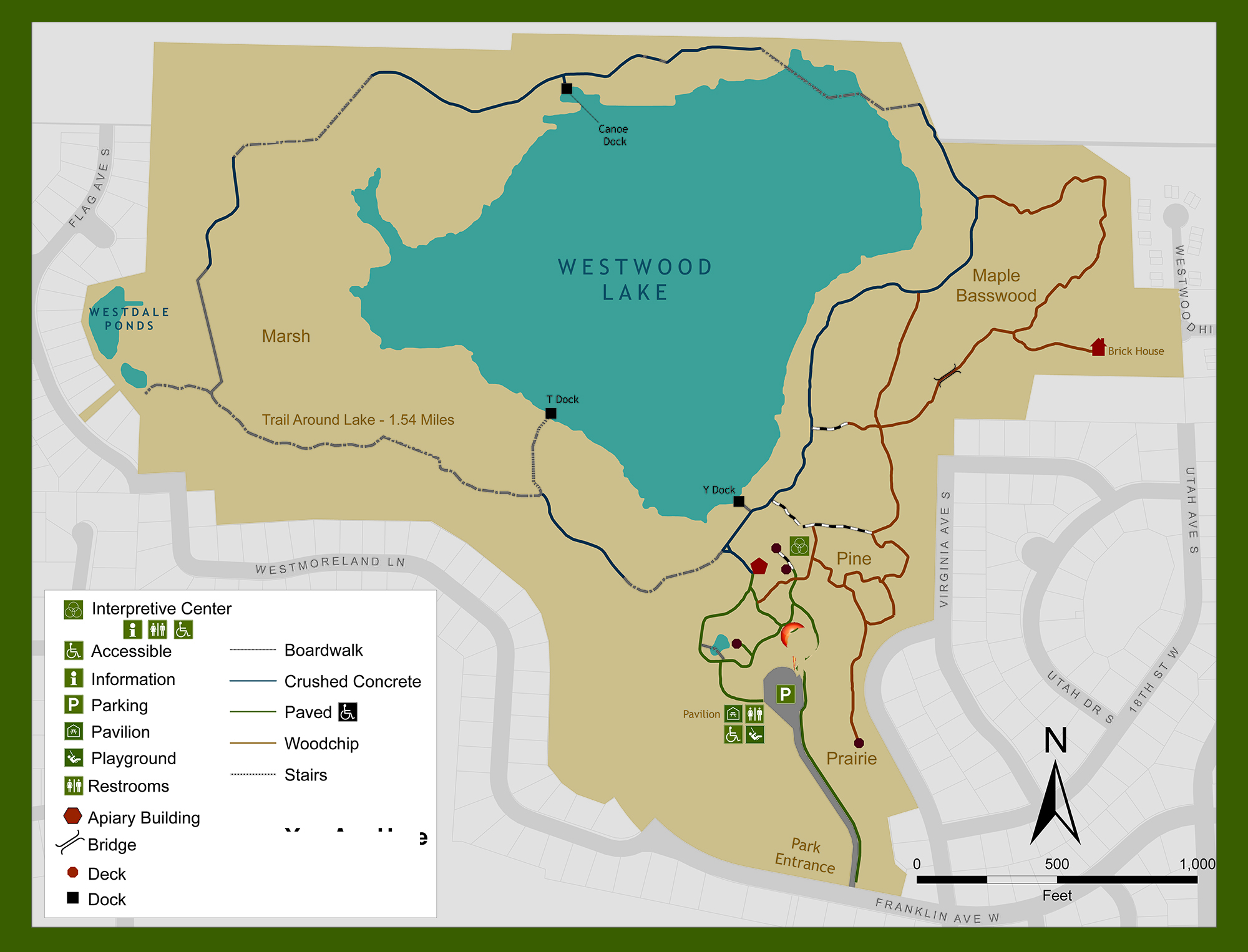 Westwood Nature Center Map