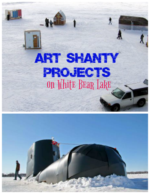 Art Shanty Projects on White Bear Lake Minnesota