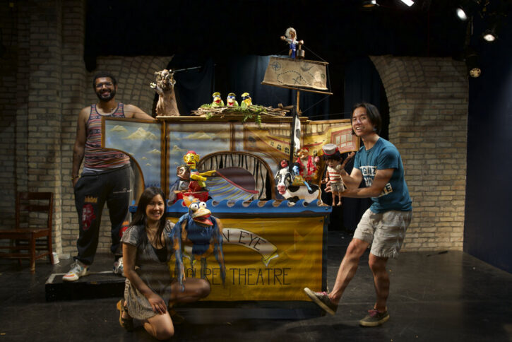 cast of Open Eye Figure Theatre puppet theater performance