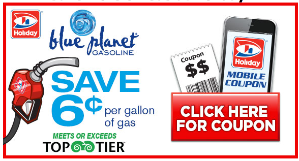 Holiday Gas Coupon