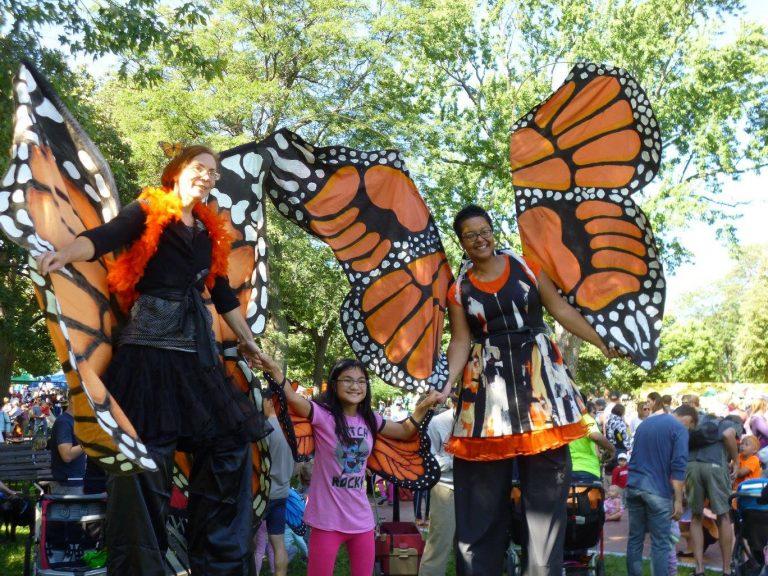 Minneapolis Monarch Festival Stilt Walkers
