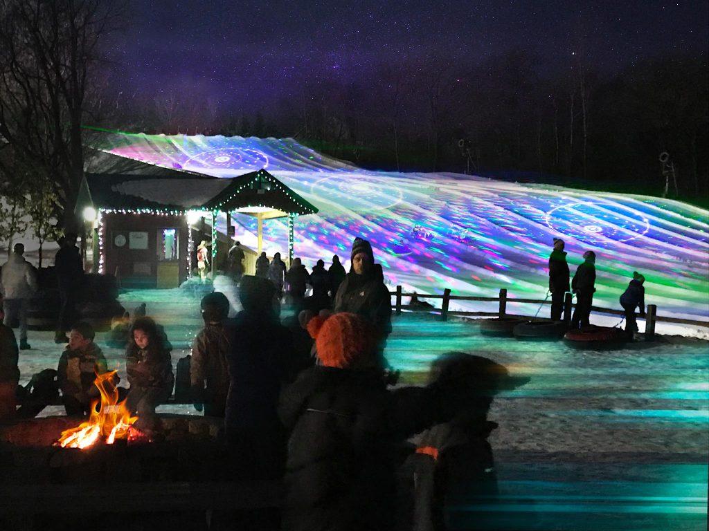 Laser Light Tubing at Buck Hill