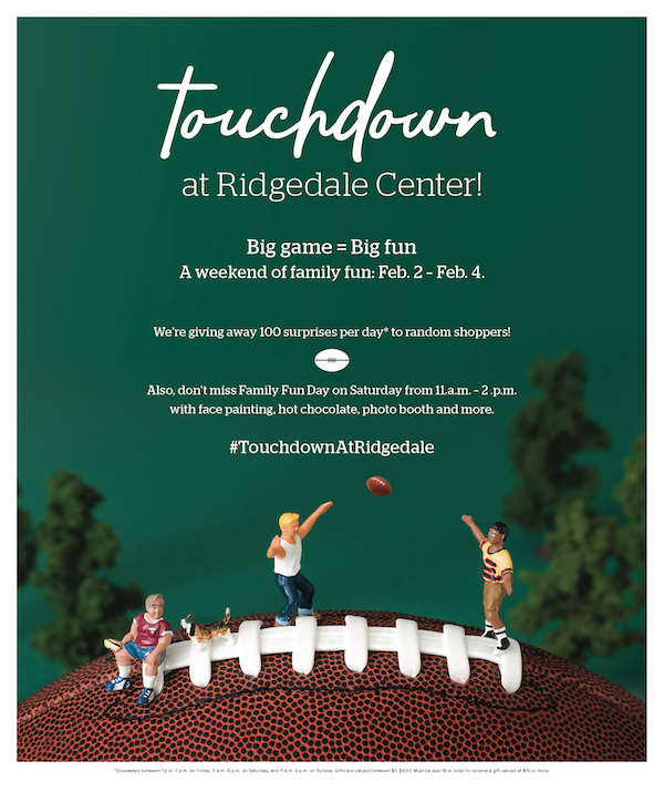 Touchdown at Ridgedale Event Giveaways