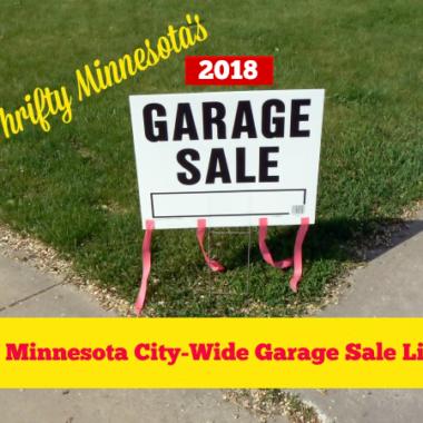 2018 Minnesota City Wide Garage Sales List