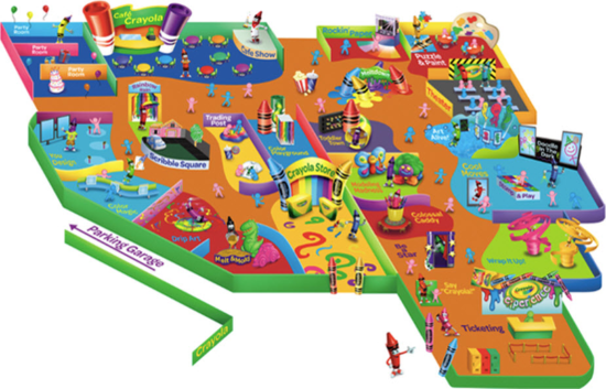 Crayola Experience Mall of America layout