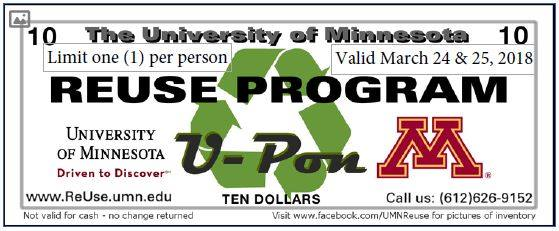 University of Minnesota Reuse Program Coupon