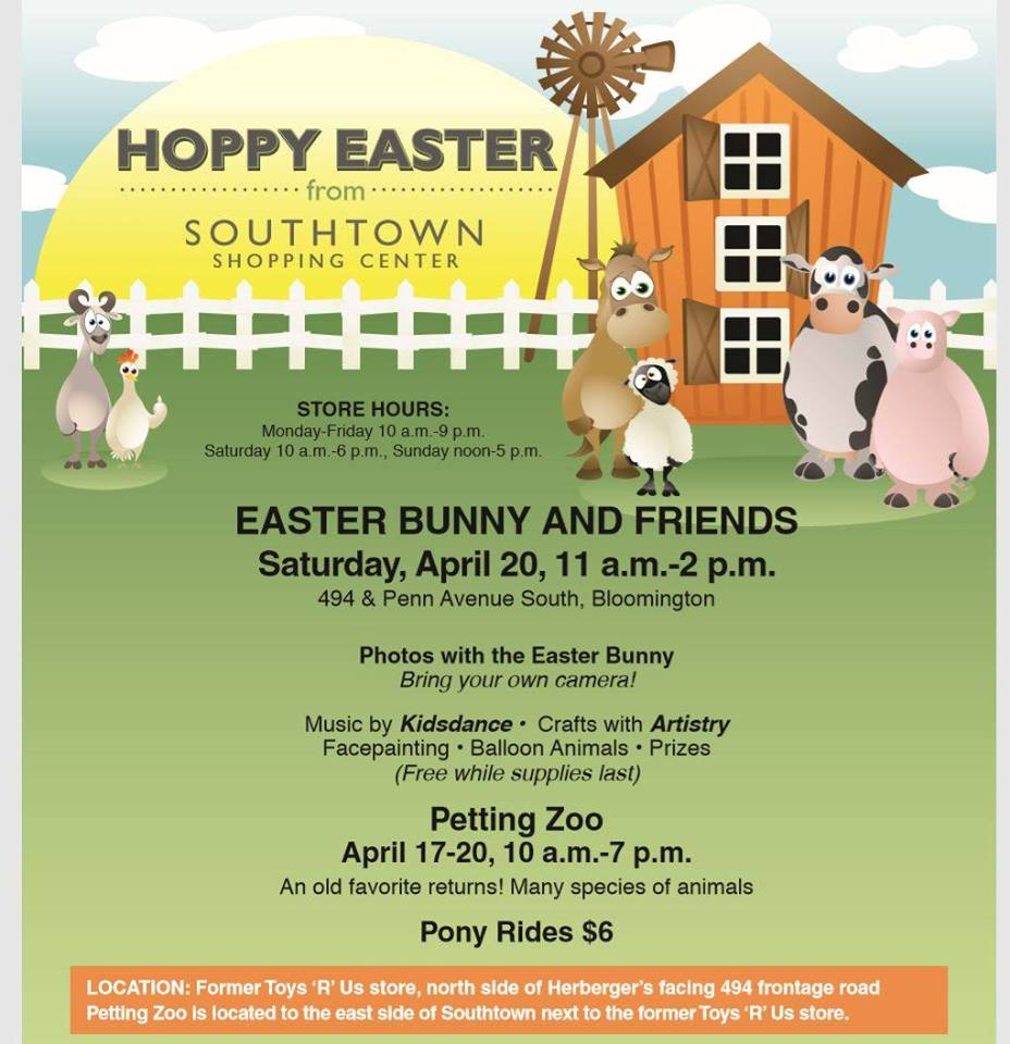 Petting Zoo And Easter Event At Southtown Center Thrifty