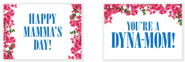 mamma mia mothers day cards