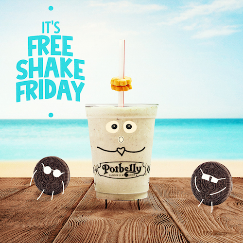 Potbelly Free Shake Friday