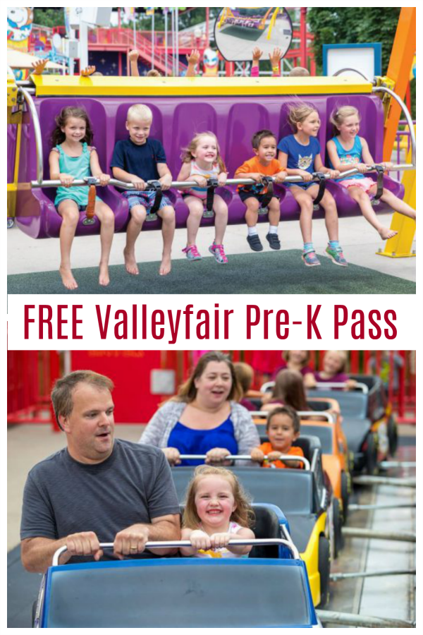 Valleyfair Free PreK Pass
