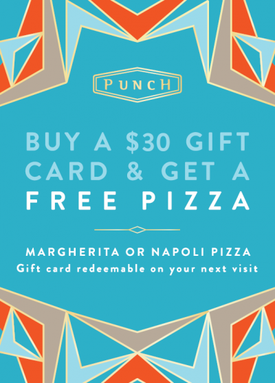Punch Pizza Gift Card Bonus