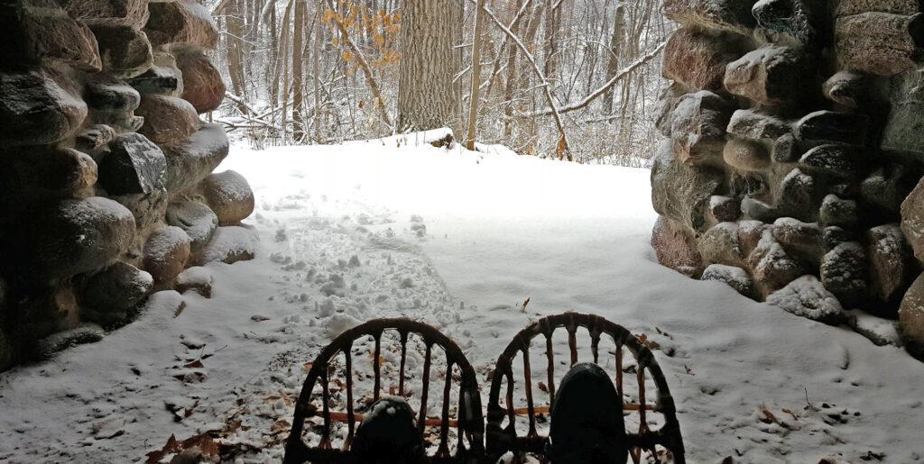 Snowshoe hike in Little Falls MN