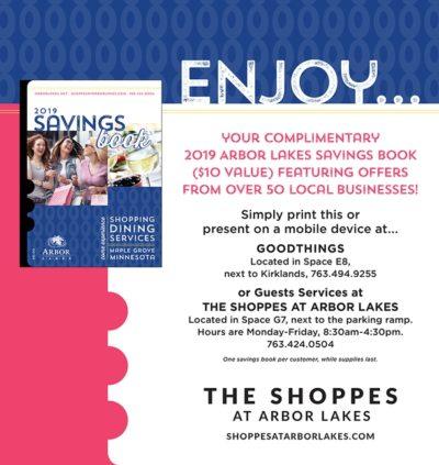 Free 2019 Arbor Lakes Savings Book - Thrifty Minnesota