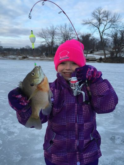 Girl Fishing in Minnesota