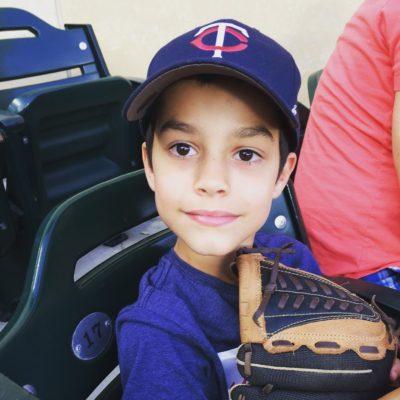 boy at Minnesota Twins game