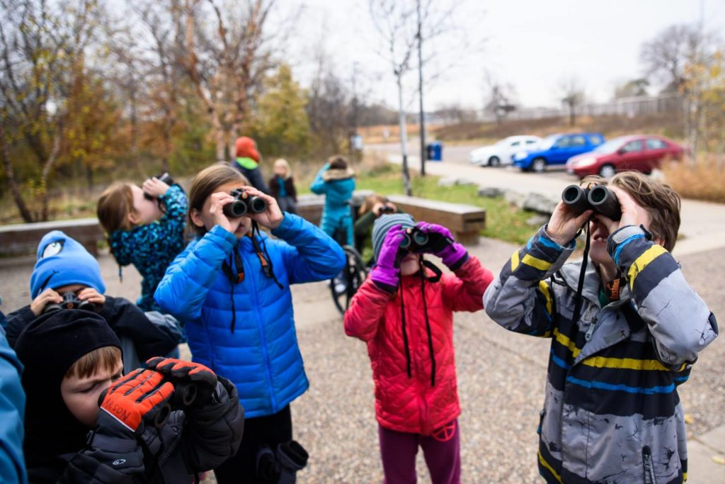 bird watching at Kroening Interpretive Center