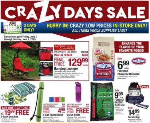 Menards Crazy Days Sale June 2019