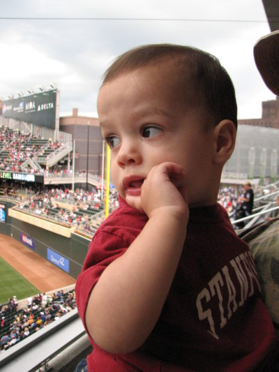 baby at Target Field Minnesota