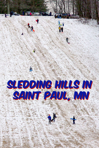 Sledding Hills in Saint Paul, Minnesota
