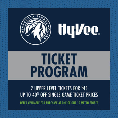 Hy-Vee Timberwolves Tickets