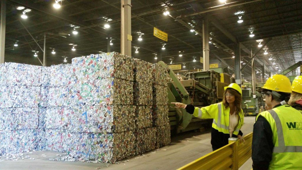 Recycling Tour at Republic Services
