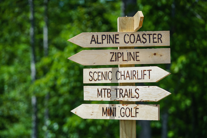 Spirit Mountain Sign
