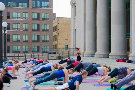 Union Depot free yoga Outdoors