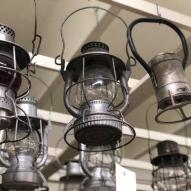 Emmet County Historical Museum Train Signal Lamps