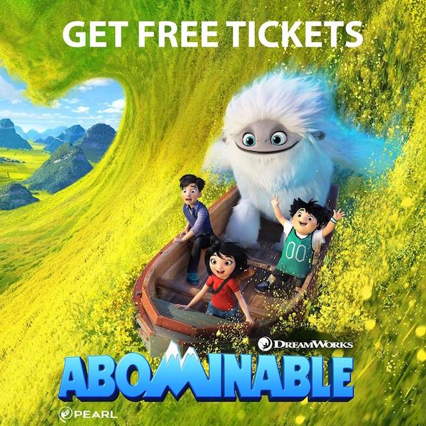 abominable screening free passes