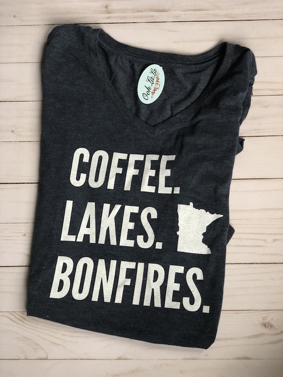 MN Coffee Lakes Bonfires T