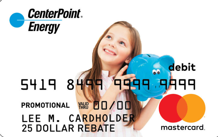 CenterPoint Energy rebate gift card