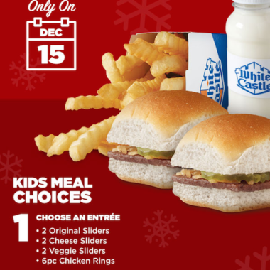 White Castle Free Kids Santa Lunch