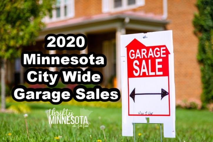 2020 Minnesota City Wide Garage Sales List